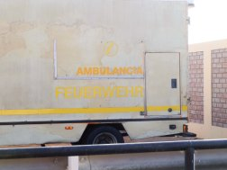 die aus Deutschland gesponserte Ambulanz?